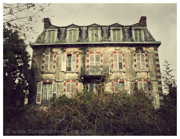 Haunted Mansion - Normandy, France - haunted house, abandoned building, broken windows - 8.5x11 Original Signed Fine Art Photograph, via Etsy.