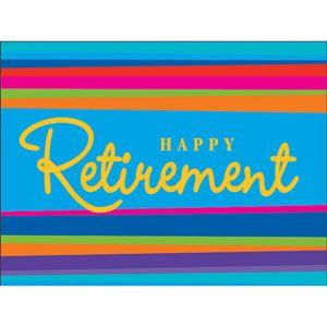 Retirement Stripes  Invites (8