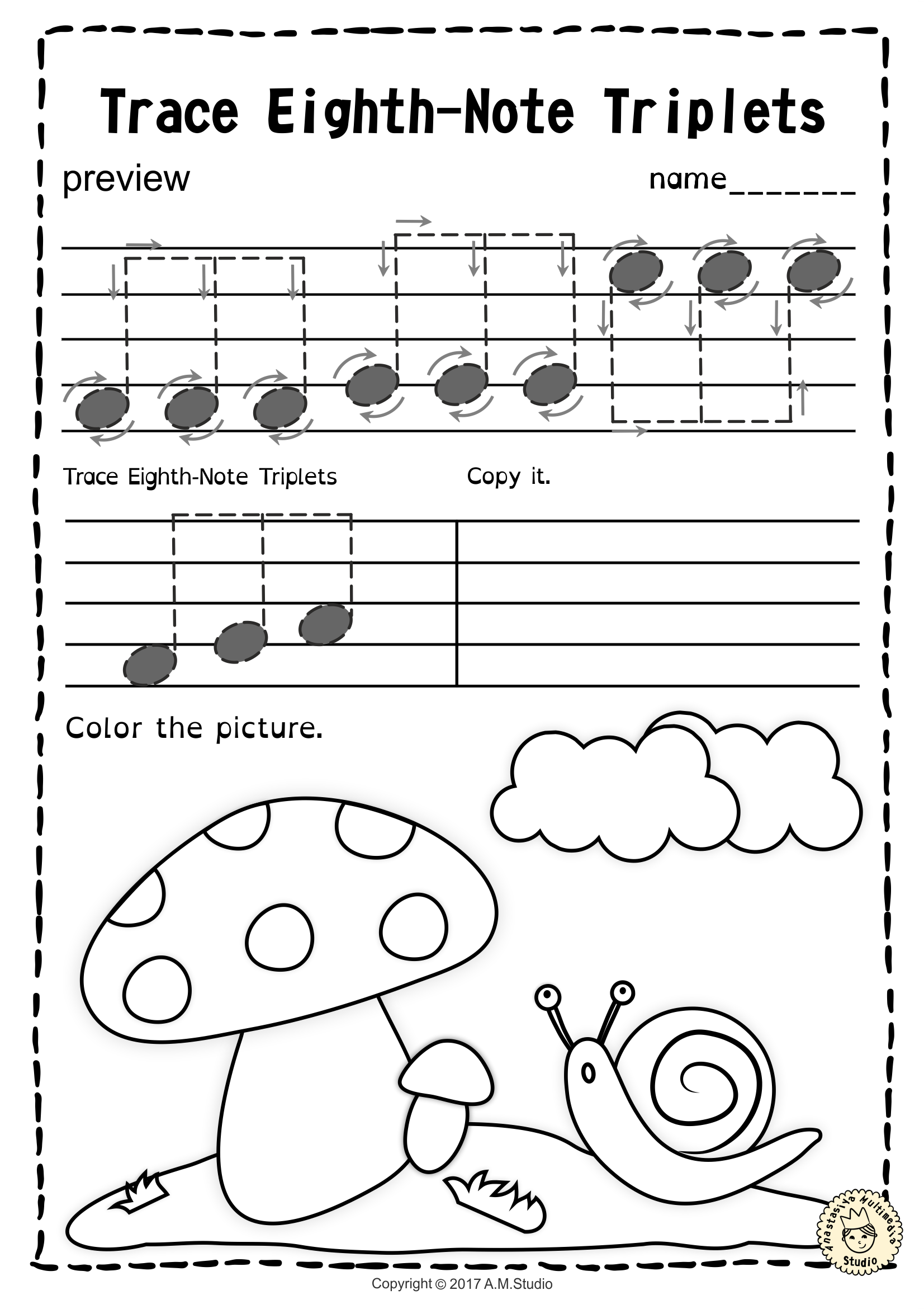 musical notes to copy