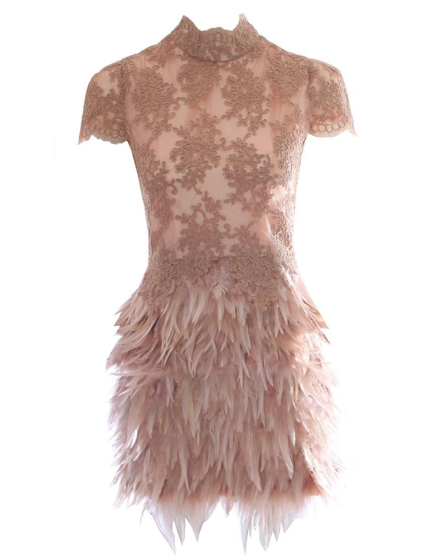 Feather Cocktail Dress Uk