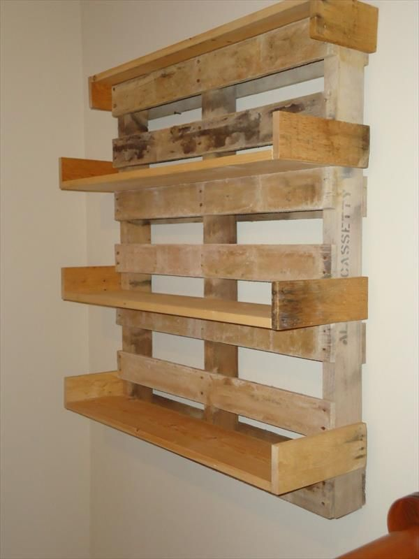 Diy pallet bookshelves pallet furniture pallets and for Homemade furniture instructions