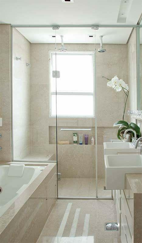 Banheira E Duas Pias Banheiro Bathroom