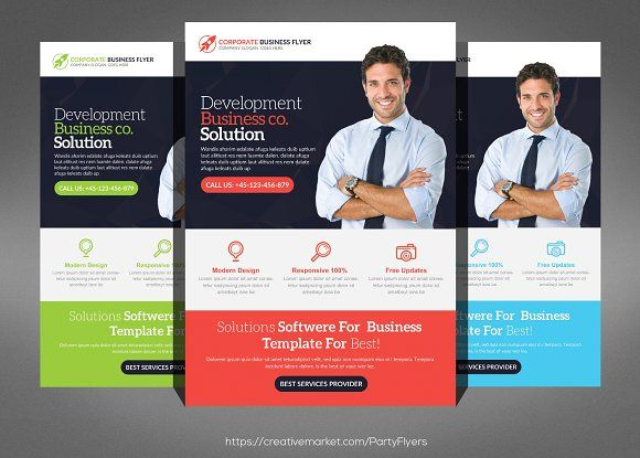 Software Business Flyer by Party Flyers on @creativemarket - web flyer