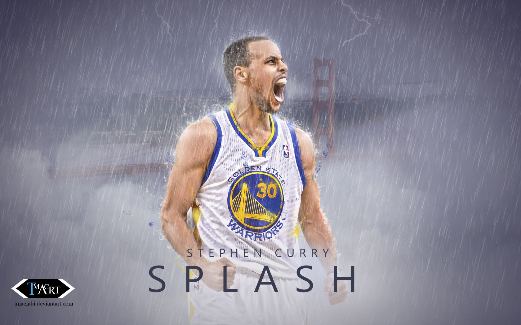 Stephen Curry Splash Wallpaper