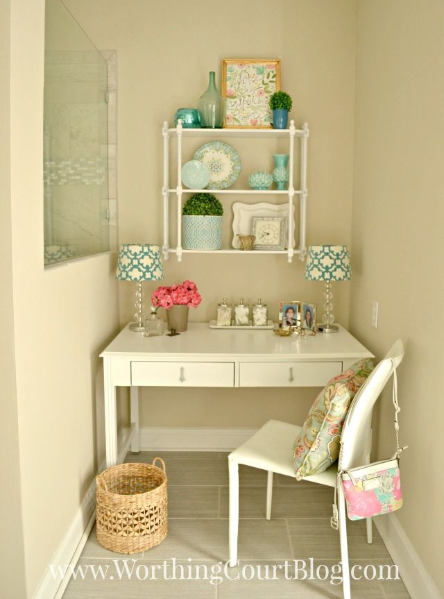 Old Desk Turned Into A Dressing Table | Dressing tables, Makeup ...