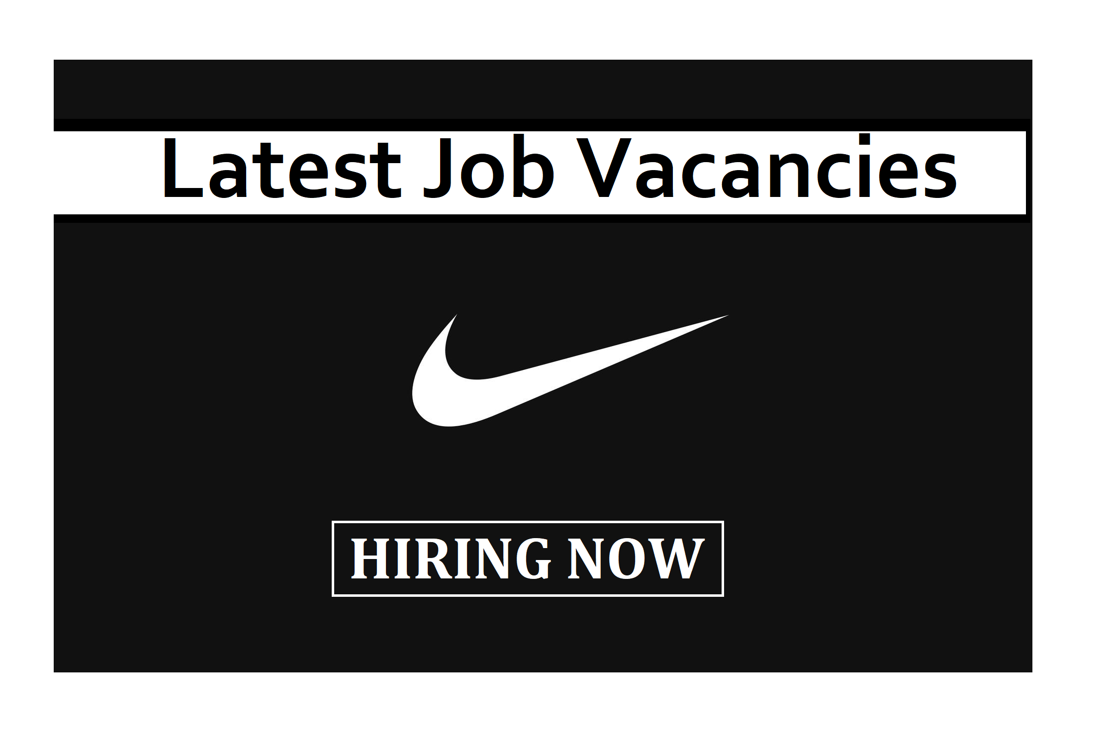 lago identificación Aire acondicionado  Latest job vacancies at Nike in 2020   Job, Nike, Hiring now