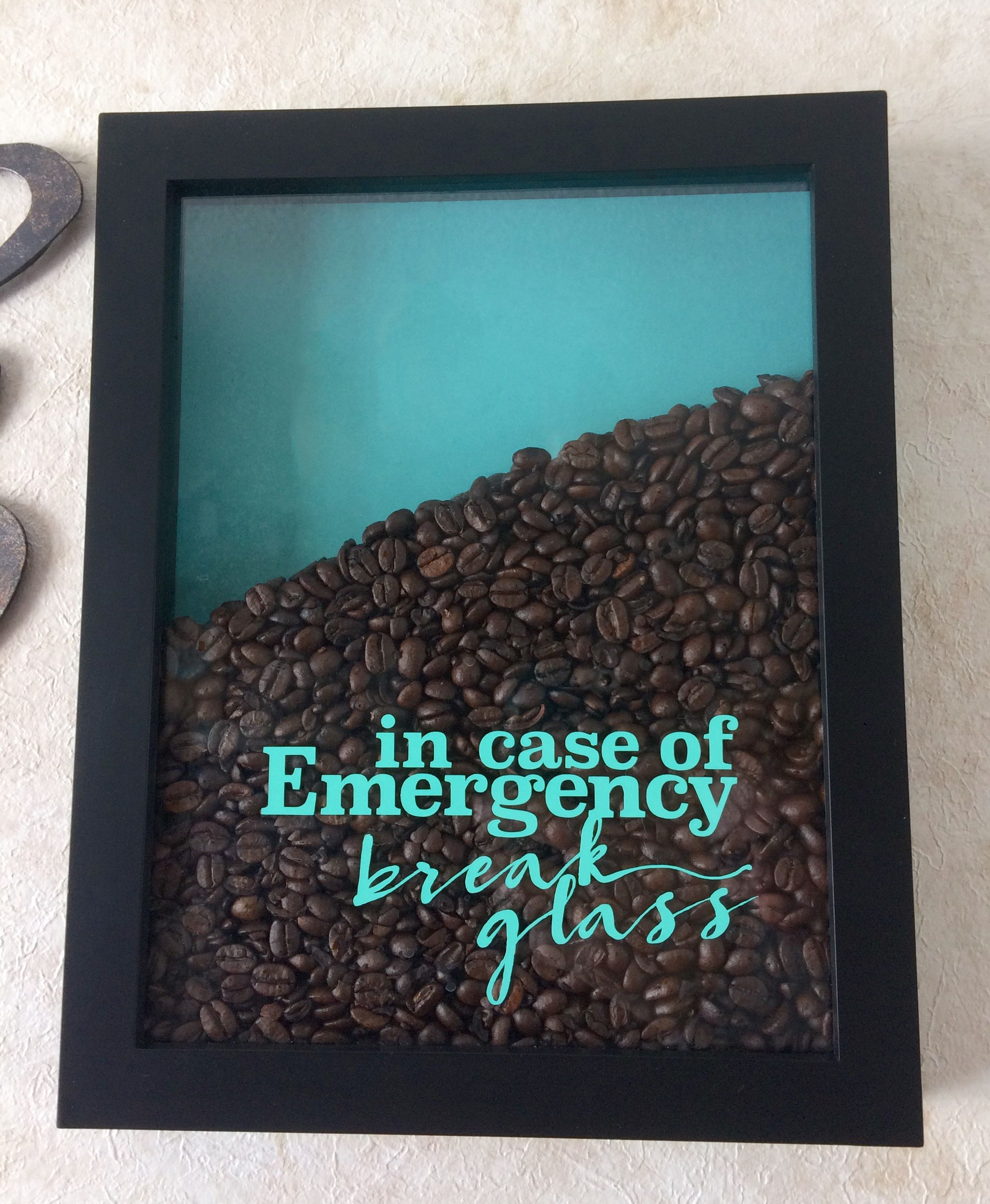 Coffee Emergency   Cricut design, Svg file and Shadow box