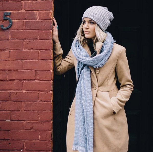 Pin for Later: 33 Different Ways to Wear a Scarf Every Day Draped Around the Neck