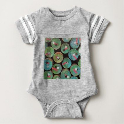 Industrial peacock dull baby bodysuit - girl gifts special unique diy gift idea