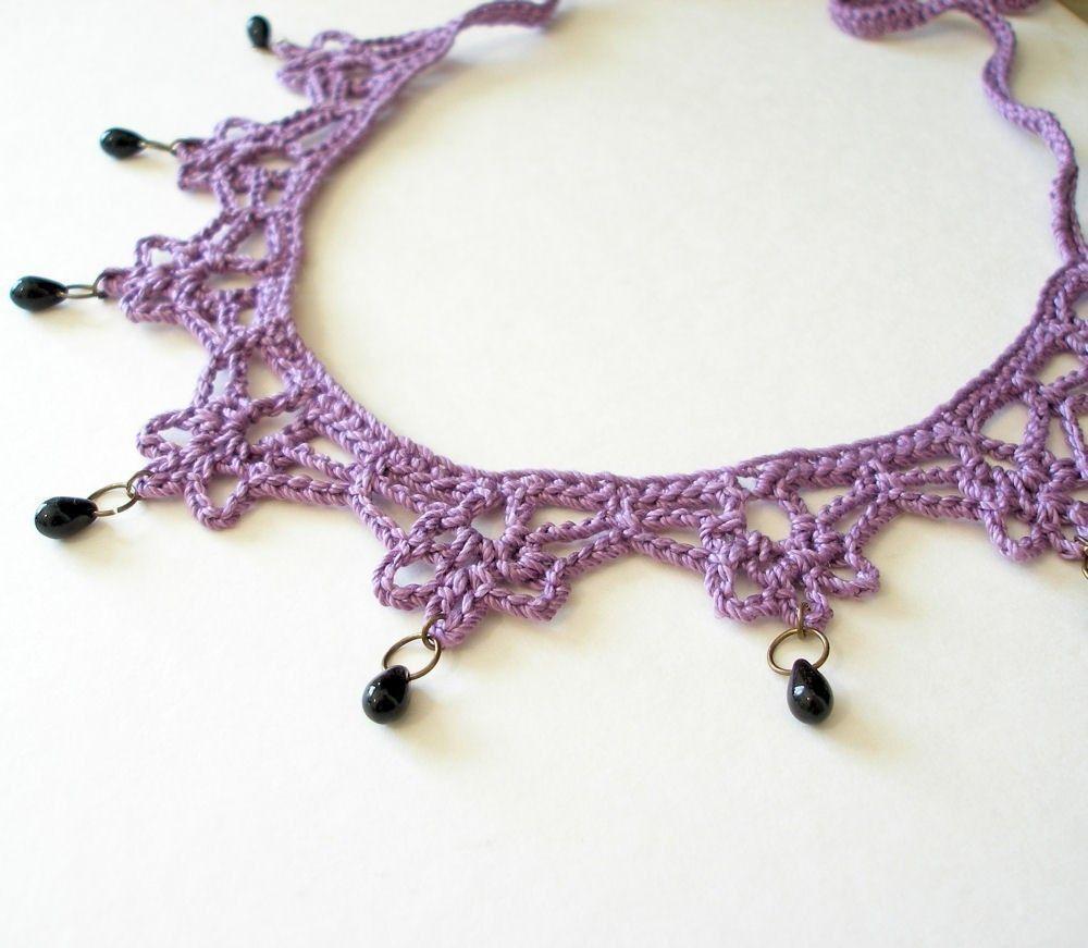 PDF Crochet Pattern Mina Harker Necklace by JeweledElegance ...