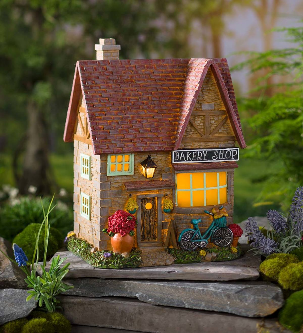 Miniature Fairy Garden Solar Bakery In 2020 Miniature Fairy Gardens Fairy Garden Fairy Garden Supplies
