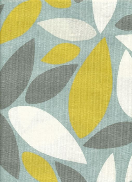 Contemporary Leaves in Duck Egg & Lime FM4823