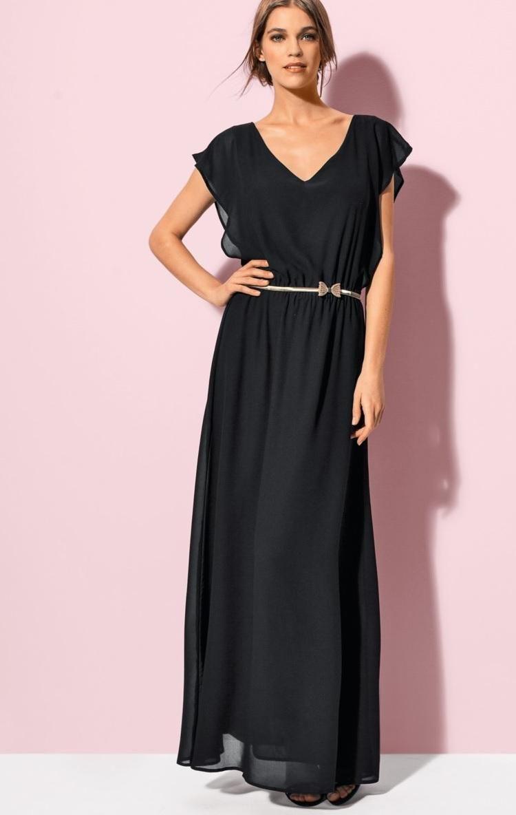 Redoute black maxidress georgette summer couture haute