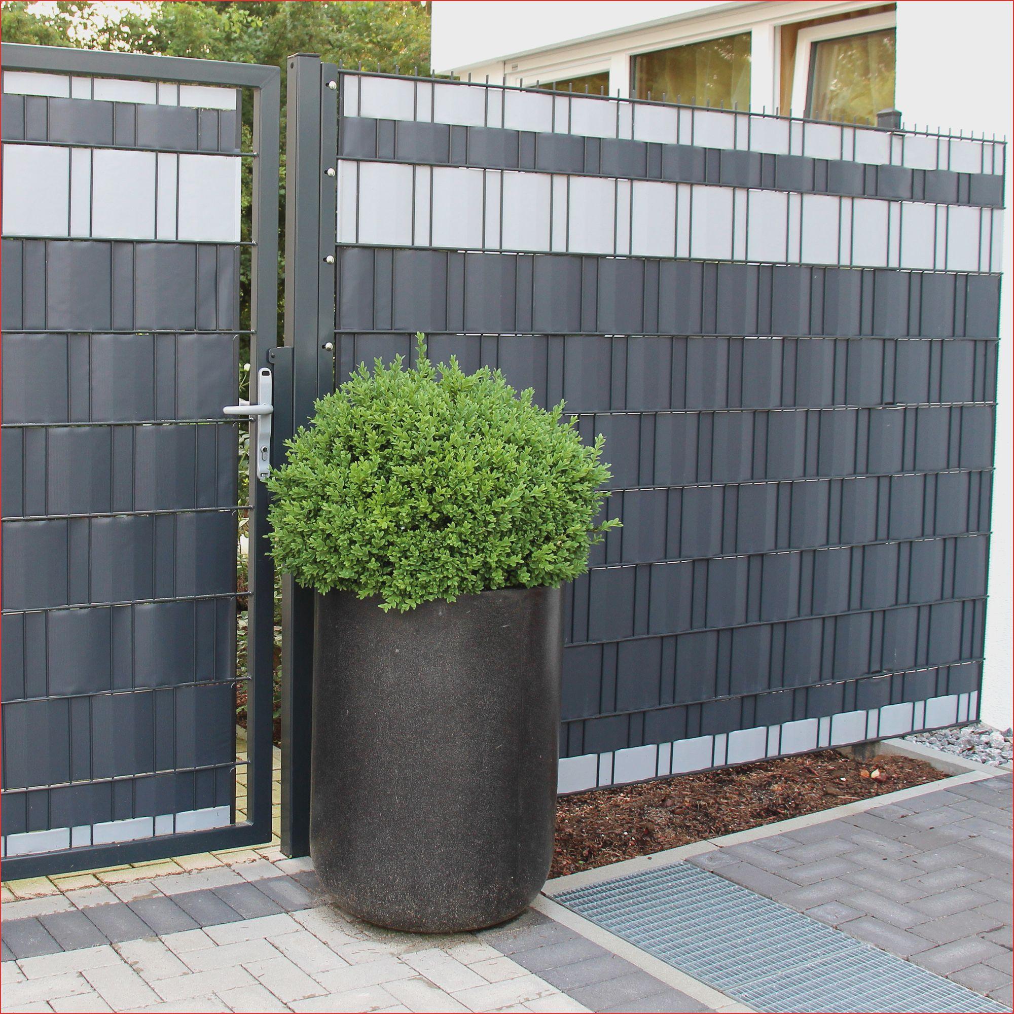 Garten Konzept 30 Oberteil Doppelstabmattenzaun Mit Sichtschutz