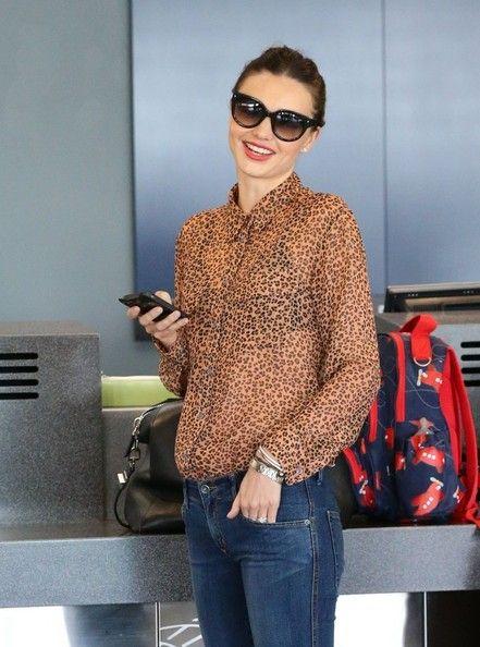 Miranda Kerr Button Down Shirt - Miranda Kerr Looks - StyleBistro