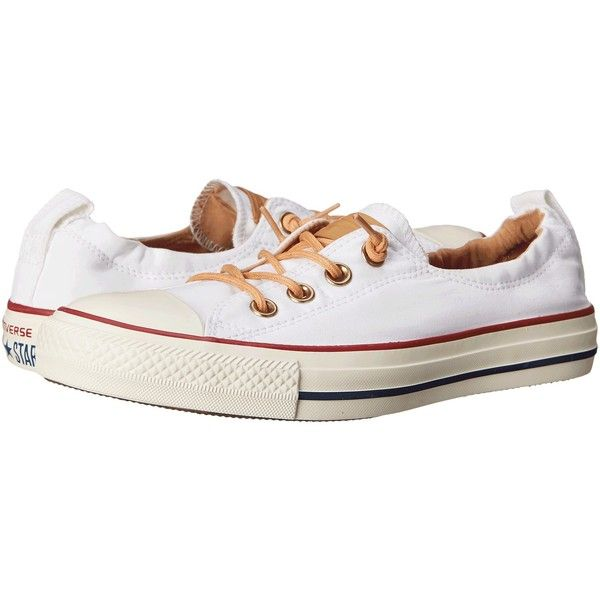 Converse Chuck Taylor All Star Shoreline Peached Canvas Women's Lace... ($55) ❤ liked on Polyvore featuring shoes, flats, slip-on shoes, canvas lace up shoes, canvas flats, laced flats and fleece-lined shoes