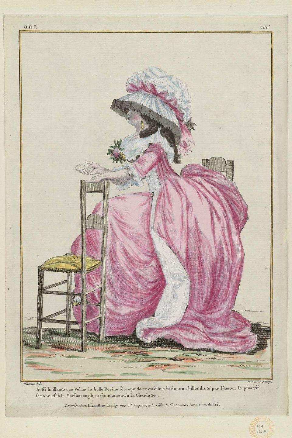 1785 aussi brillante que v nus la belle dorine s 39 occupe de ce qu 39 elle lu dans un billet dict. Black Bedroom Furniture Sets. Home Design Ideas