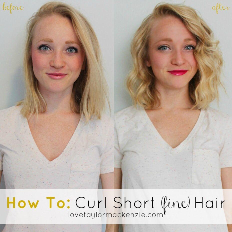 How To Curl Short Fine Hair Tutorial Short Hairstyles Fine Fine Hair Short Thin Hair