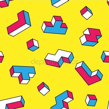 Memphis Nahtlose Muster Geometrische Elemente