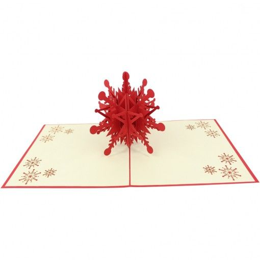 Falling Snowflake Pop-Up Card. Each snowflake is unique, let this Snowflake card send the same message to someone you love this season. Help them feel unique and special this season.