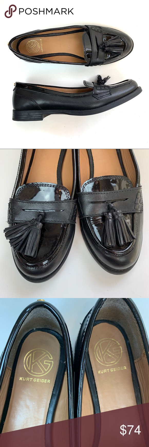 special promotion new specials low price Kurt Geiger Flats 40 leather slipon tassel loafers Kurt ...