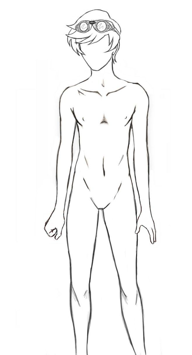Full Body Anime Guy Template Body Outline By Seventyeyes Body