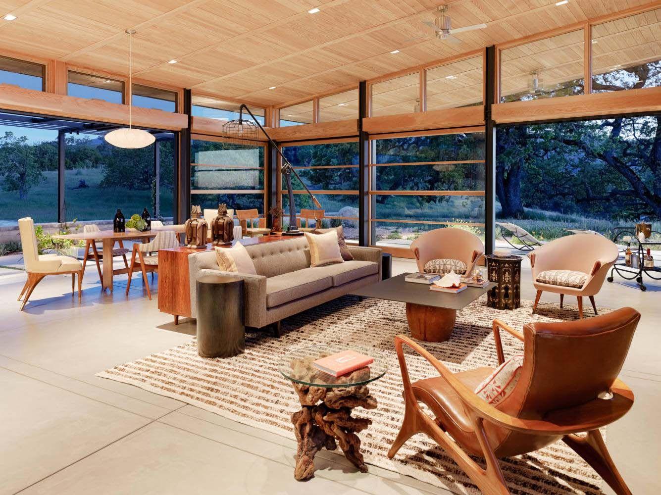 modern ranch house merges indooroutdoor living in santa