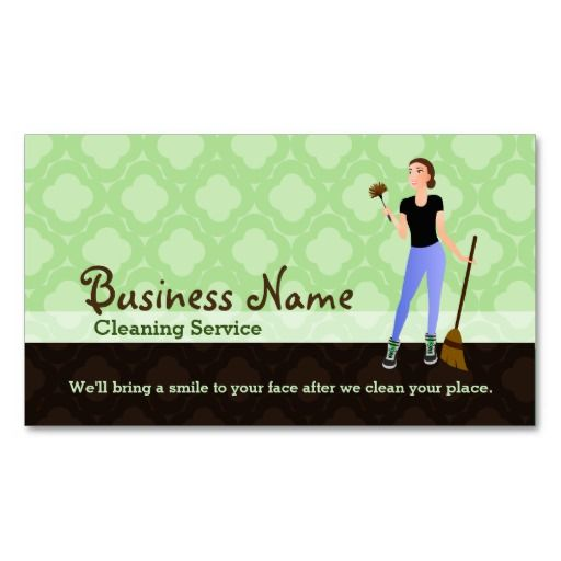 House Cleaning Business Cards House Cleaning Business Cards