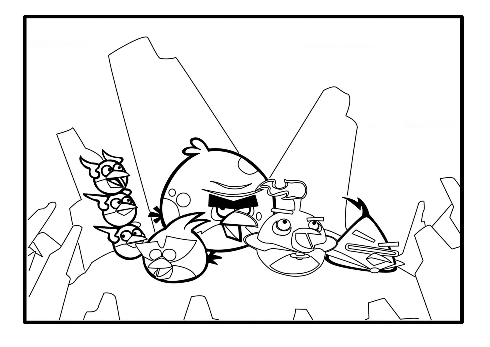 Angry Birds Space Coloring Pages Wallpapers