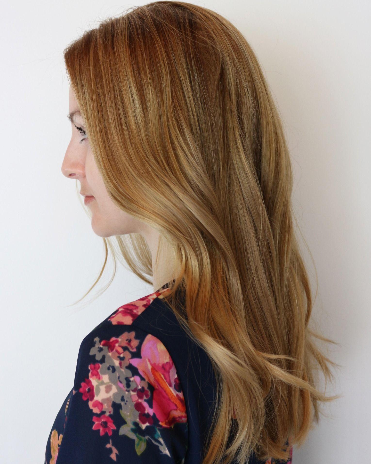 Pretty red gold waves by establishment la stylist jess fullermohn