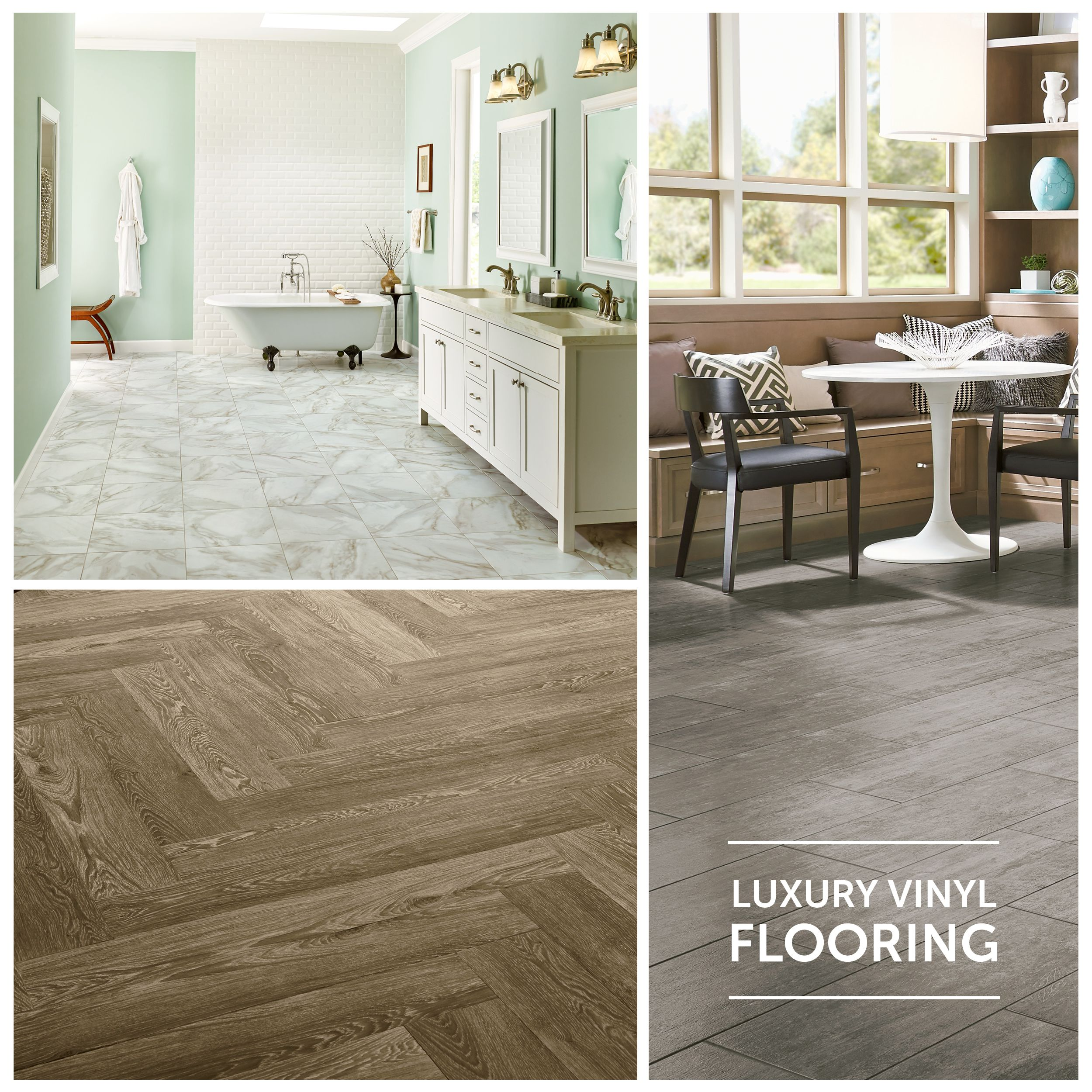 Luxury vinyl flooring stone wood looks lvt lvp for Luxury linoleum flooring