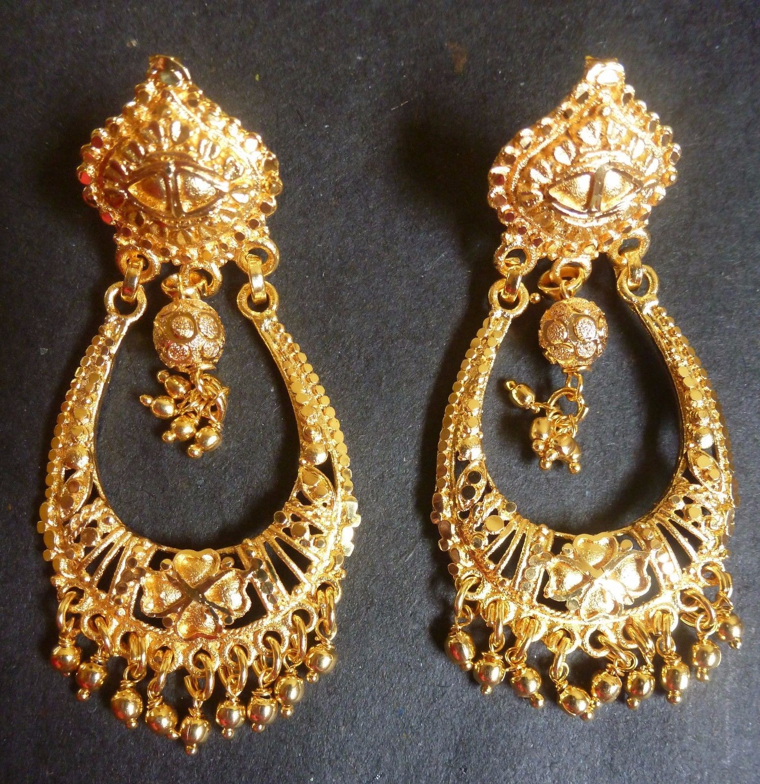 gold earrings jewellery wm stud indian