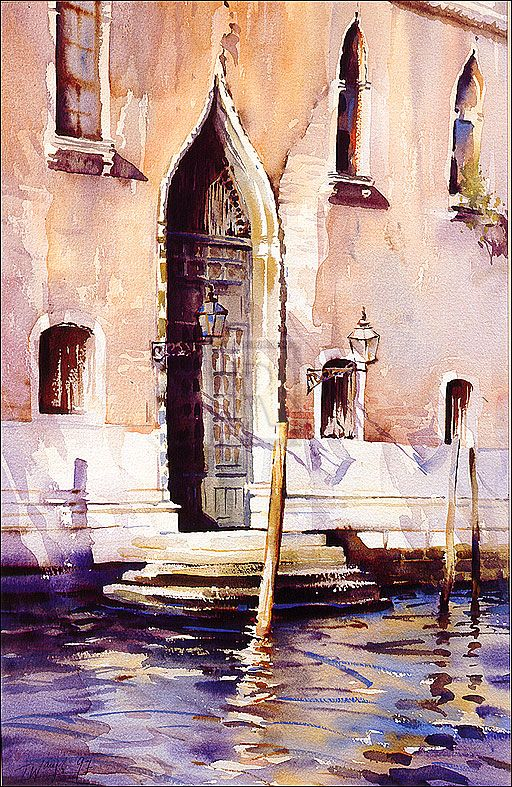 Trevor Waugh Venice Watercolor Architecture Watercolor Art