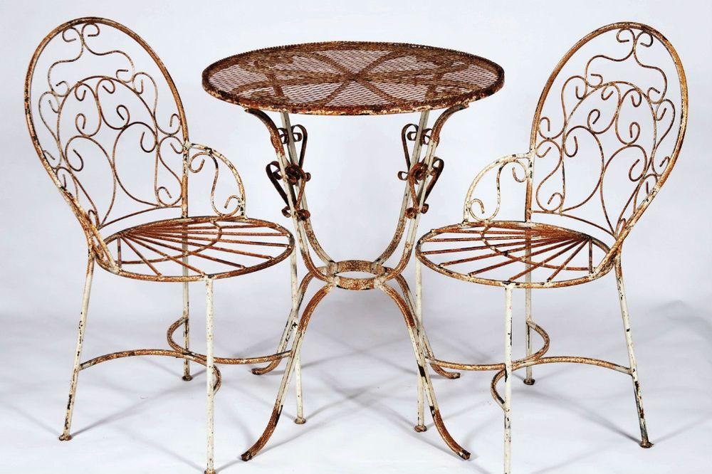 Schmiedeeisen Bistro Tisch Und Stühle | Couchtisch | Pinterest ...