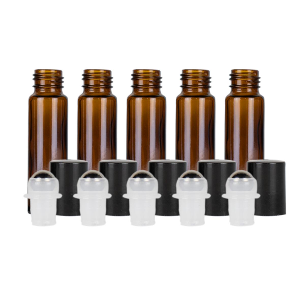 10ml Amber Glass Roller Bottles Pack Of 5 Glass Roller Bottles Amber Glass Bottles Amber Glass