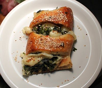 Italian Spinach and Cheese Calzone from What's Cookin' Italian Style Cuisine