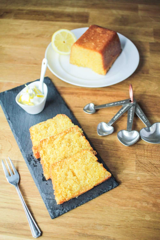 Lemon Drizzle Polenta Loaf Cake (Gluten Free) Recipe