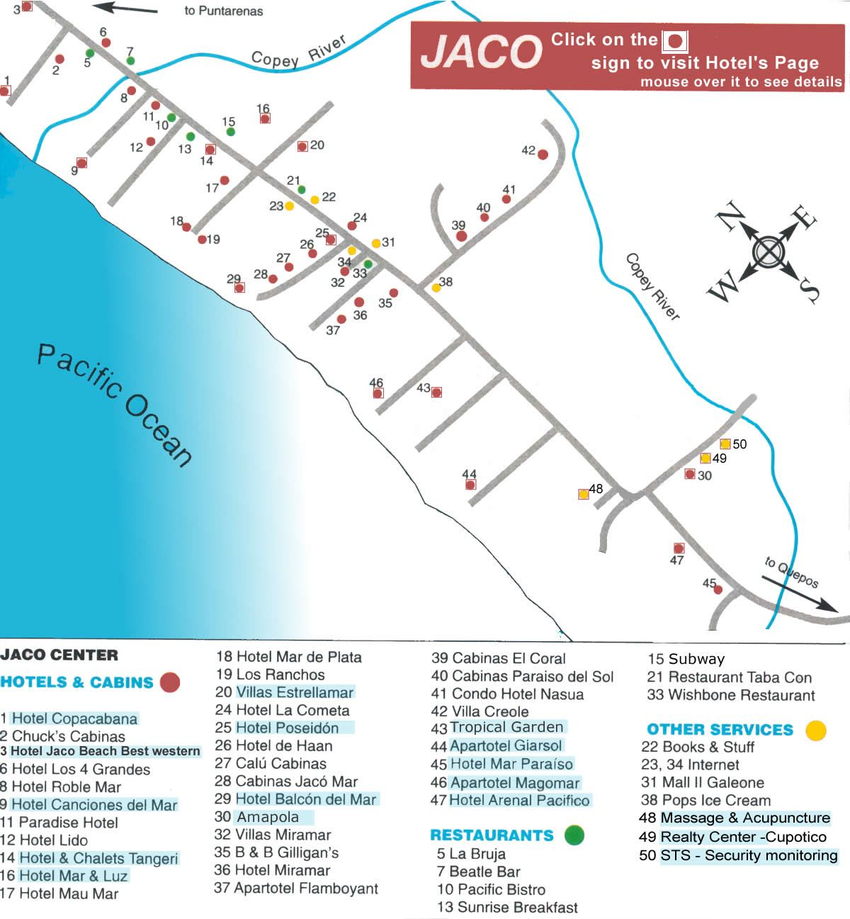 map of jaco costa rica Jaco Map Costa Rica Maps With Hotels Navigation Costa Rica Hotel Costa Rica Map map of jaco costa rica