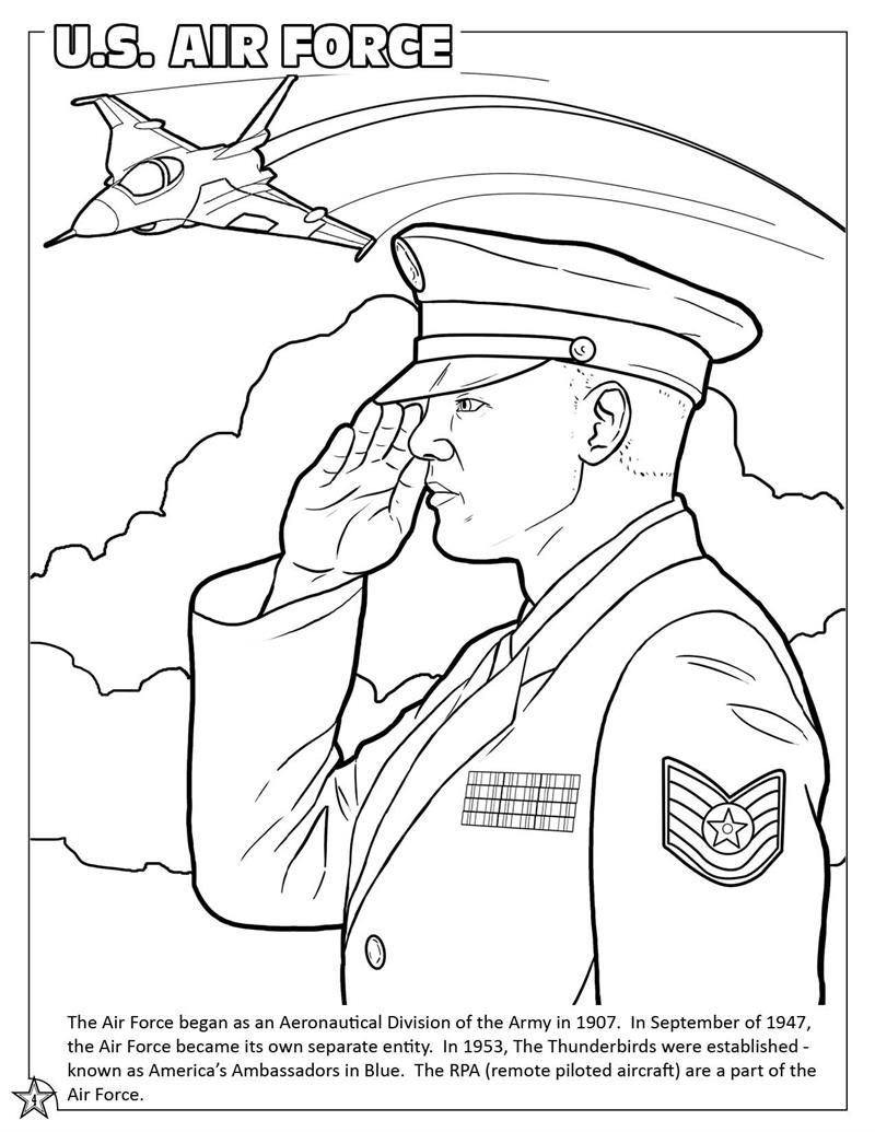 Air Force Coloring Book Us Air Force Coloring Pages Coloring