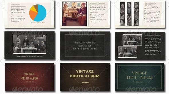 19 Vintage PowerPoint Templates Graphic Design Pinterest - Photo Album Templates Free