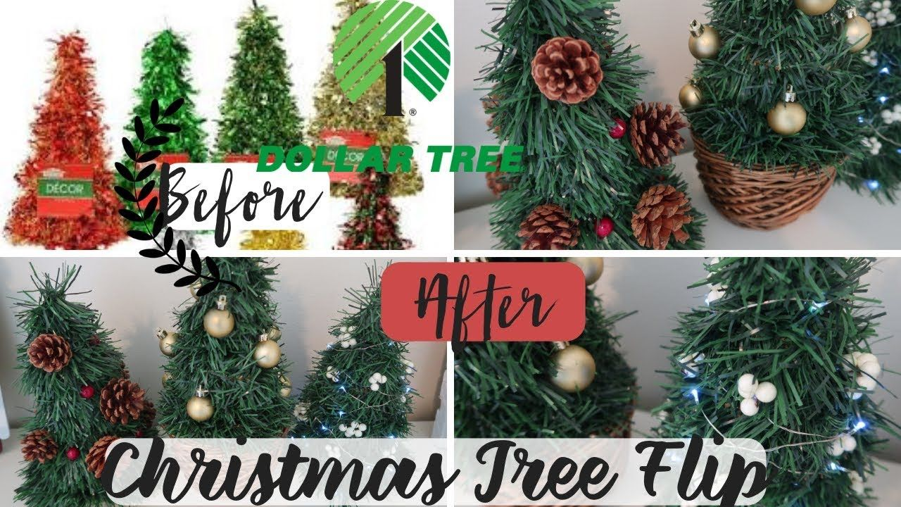 Diy Dollar Tree Christmas Decor Christmas Tree Flip Dollar Tree Flip Christmas Tree Decorations Diy Tinsel Christmas Tree Dollar Tree Christmas Decor