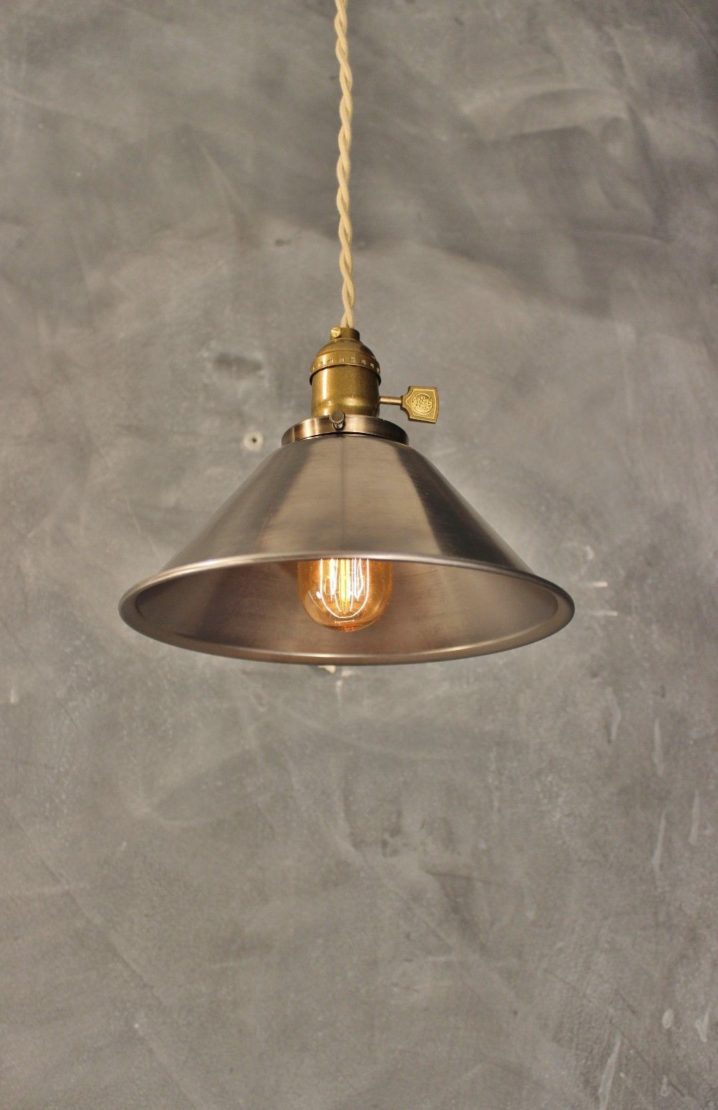 Steel Cone Pendant Lamp - Vintage Industrial Hanging Light | eBay