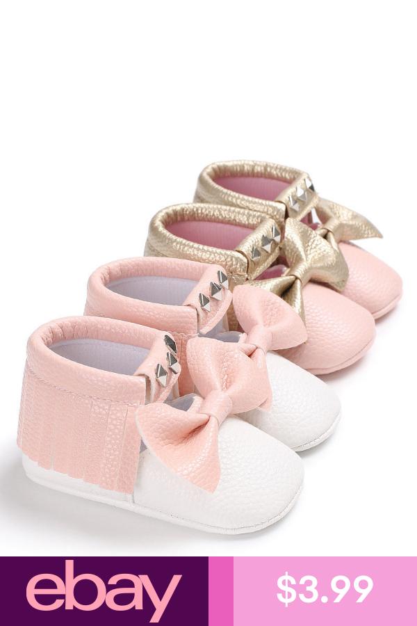 Newborn Baby Toddler Girl Crib Shoes Leather Flower Soft Sandals Prewalker 0-18M