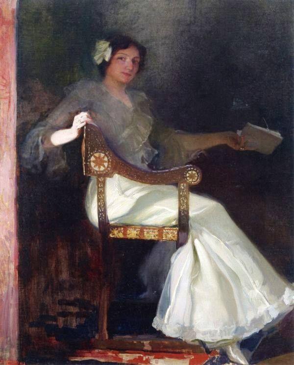 Joaquin Sorolla y Bastida - Señora de Sorolla in White, 1902.