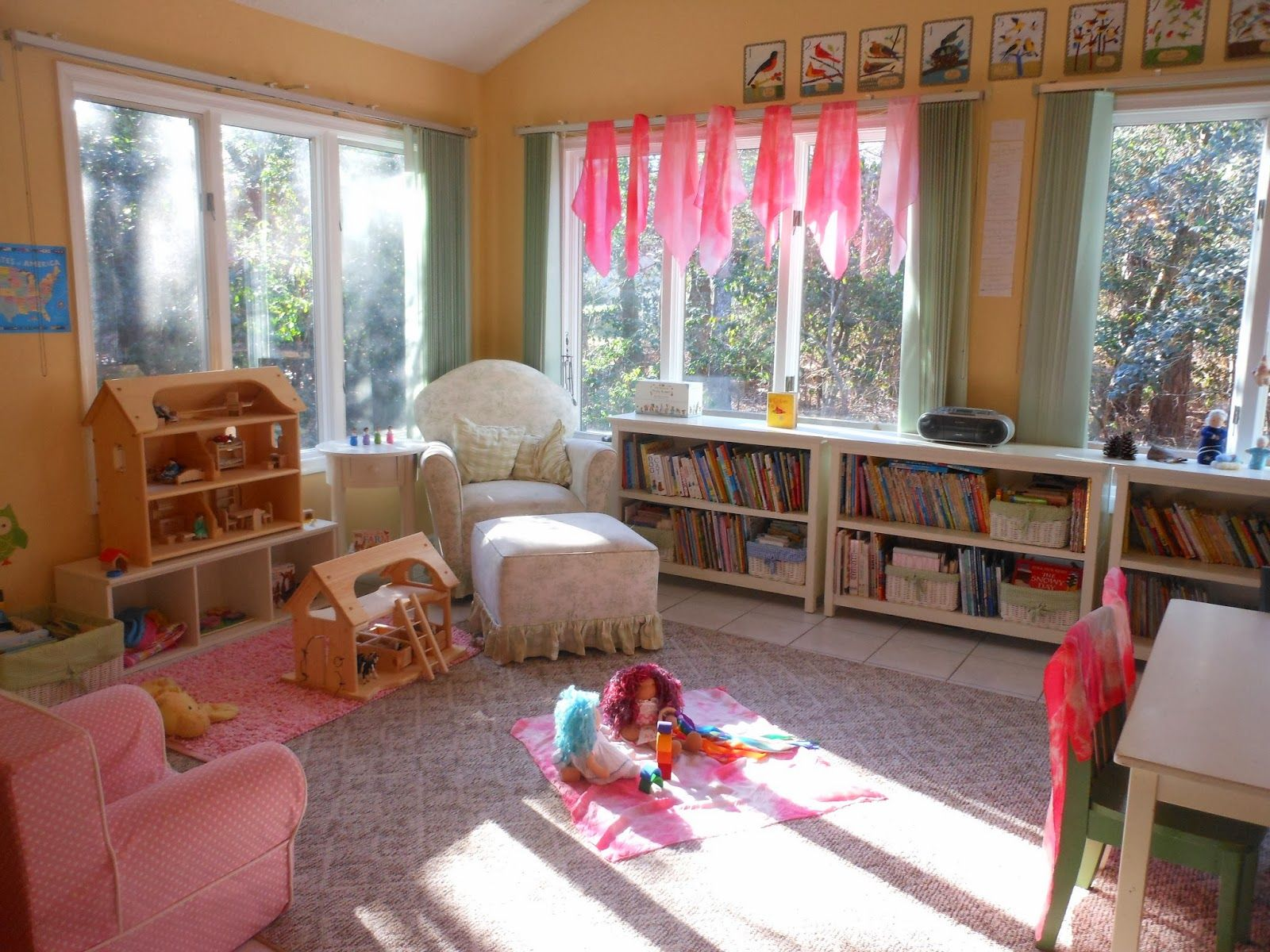 Natural Beach Living Homeschool Room With Elves And Angels
