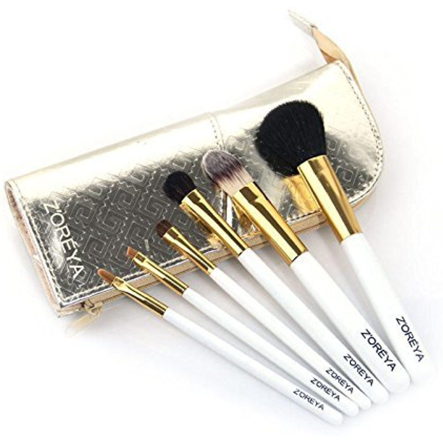 6 Pieces Makeup Brush Set Zoreya Travel Size Tools