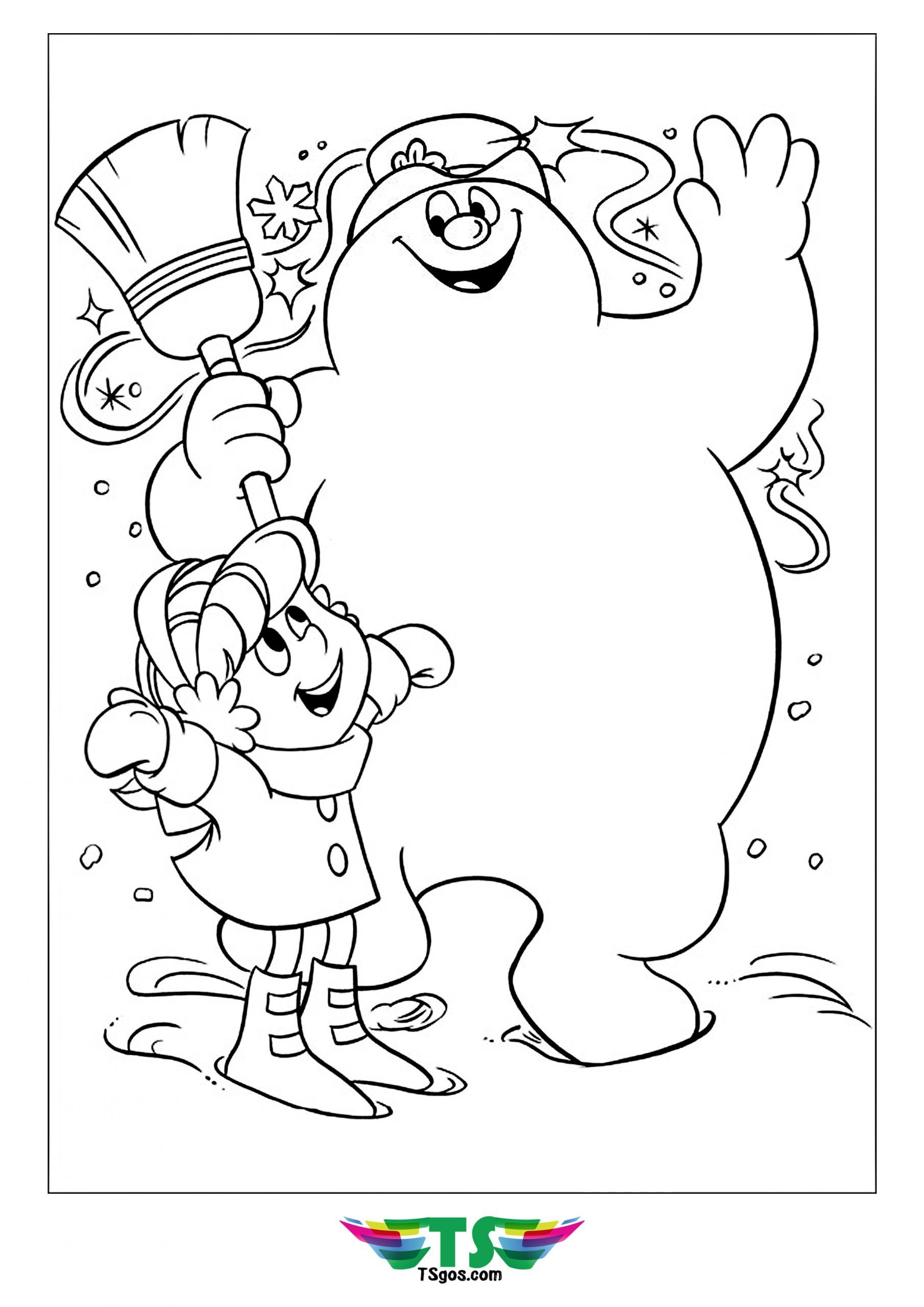 Play Color With Frosty The Snowman Coloring Page
