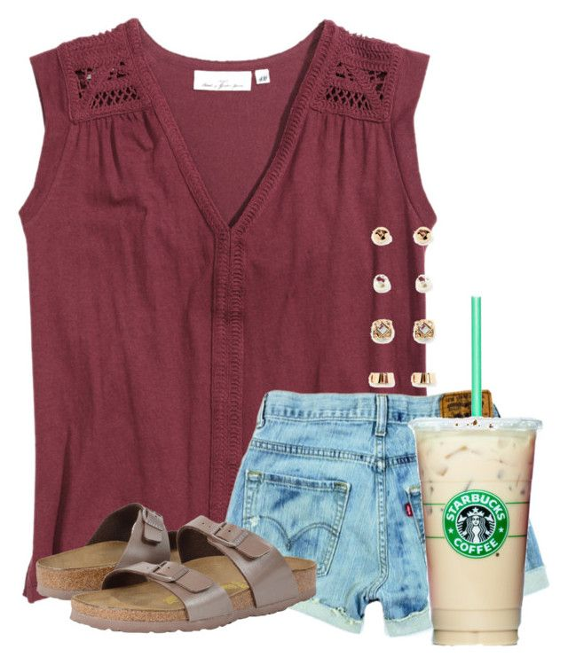 """Got up at 7:30 to go watch tennis at my grandparents house"" by flroasburn on Polyvore featuring H&M, Birkenstock and Forever 21"