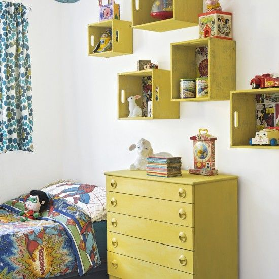 Marvel bedroom ideas | Wall shelving, Crate shelves and Shelving