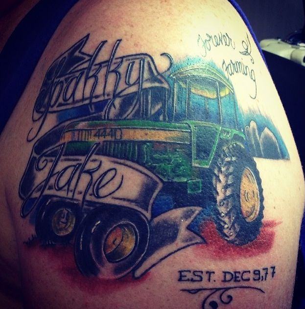 John Deere Tattoo Ideas : John deere tattoo body mods pinterest